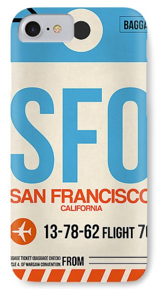 San Francisco Luggage Tag Poster 1 IPhone Case