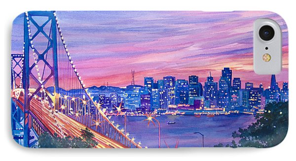 San Francisco Nights IPhone Case by David Lloyd Glover