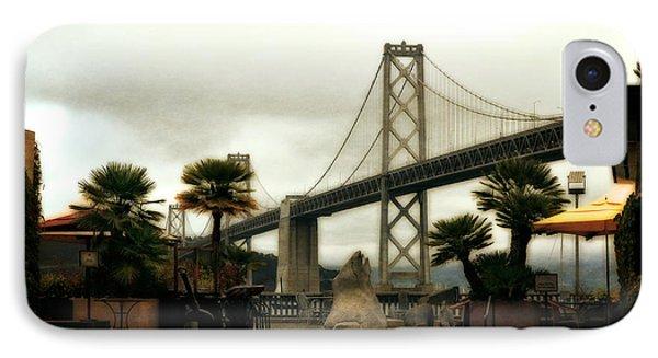 San Francisco Oakland Bay Bridge IPhone Case by Michelle Calkins