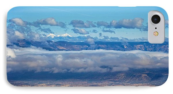 IPhone Case featuring the photograph San Francisco Peaks by Ron Chilston