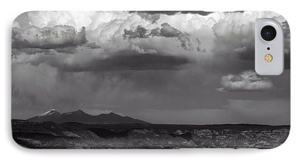 IPhone Case featuring the photograph San Francisco Peaks Snow Rain And Clouds by Ron Chilston