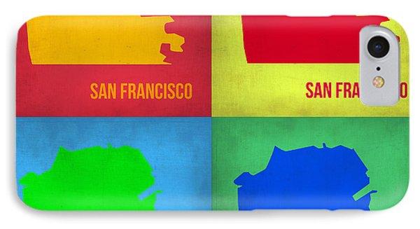 San Francisco Pop Art Map 1 IPhone Case by Naxart Studio