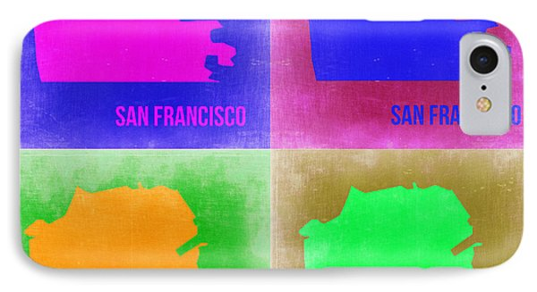 San Francisco Pop Art Map 2 IPhone Case by Naxart Studio