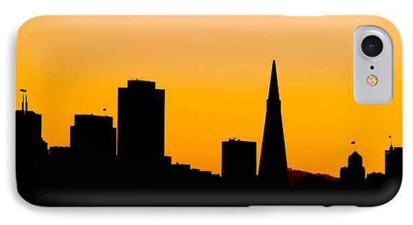 San Francisco Silhouette Phone Case by Bill Gallagher