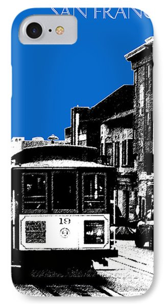 San Francisco Skyline Cable Car 1 - Blue IPhone Case