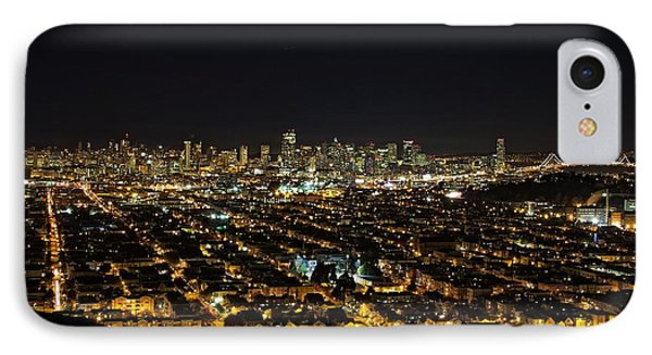 San Francisco Skyline IPhone Case by Dave Files