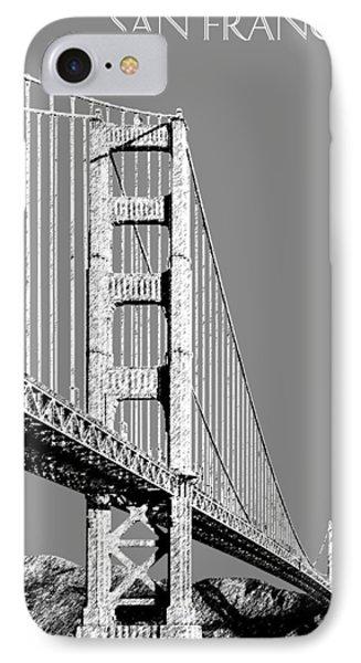 San Francisco Skyline Golden Gate Bridge 2 - Pewter IPhone Case by DB Artist