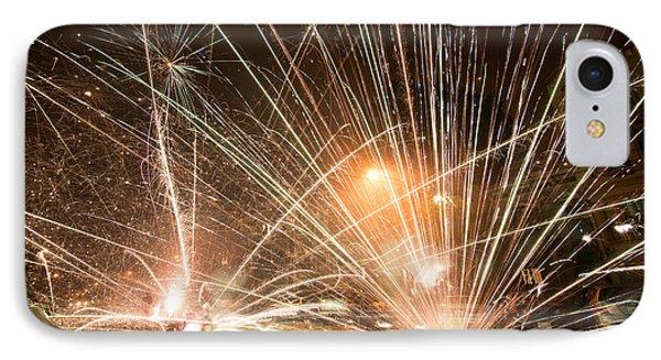 San Francisco Street Fireworks IPhone Case by Leland D Howard