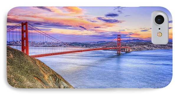 San Francisco Sunset And The Golden Gate Bridge From Marin Headlands IPhone Case