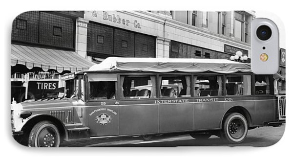 San Francisco To Portland Bus IPhone Case by Keystone Photo Service
