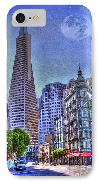San Francisco Transamerica Pyramid And Columbus Tower View From North Beach IPhone Case by Juli Scalzi