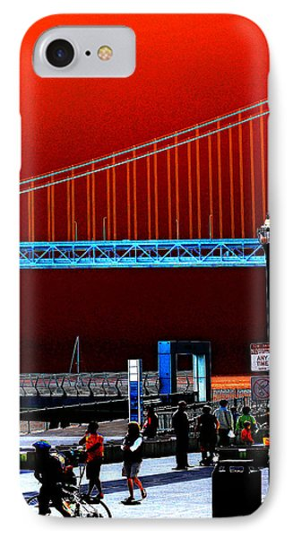 IPhone Case featuring the photograph San Francisco Unique Processing by Maggy Marsh