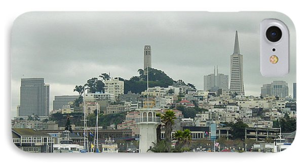 San Francisco View From Fishermans Wharf Phone Case by Suzanne Gaff