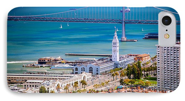 San Francisco Waterfront IPhone Case by Celso Diniz