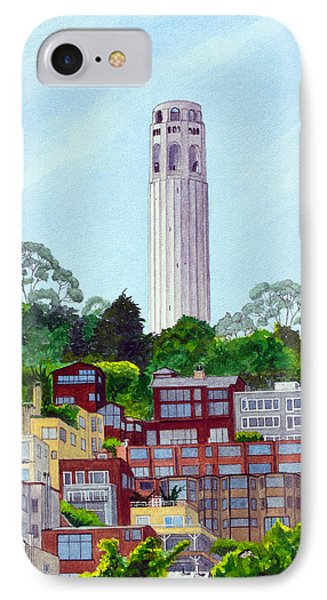 San Francisco's Coit Tower IPhone Case