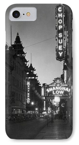 San Francisco�s Grant Avenue IPhone Case by Underwood Archives