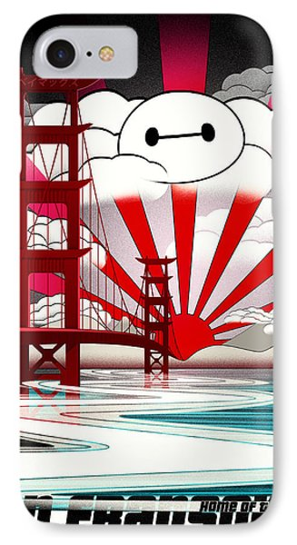 San Fransokyo Home Of The Baymax IPhone Case by Filippo B