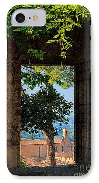 San Gimignano Door IPhone Case by Inge Johnsson