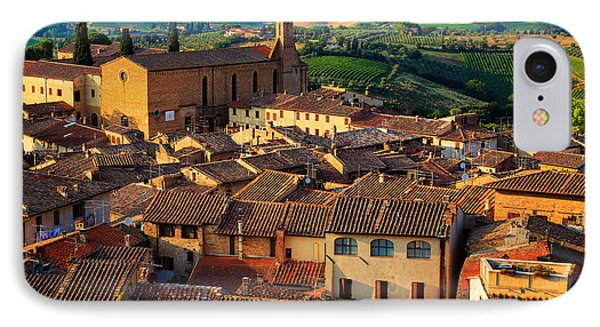 San Gimignano From Above Phone Case by Inge Johnsson