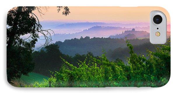 San Gimignano Hills IPhone Case by Inge Johnsson