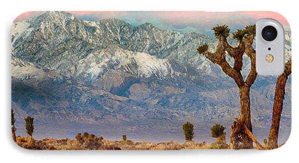San Gorgonio Mountain From Joshua Tree National Park Phone Case by Bob and Nadine Johnston