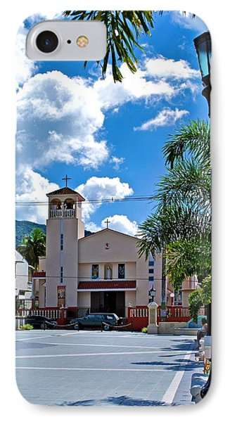 San Joaquin Catholic Church IPhone Case by Ricardo J Ruiz de Porras