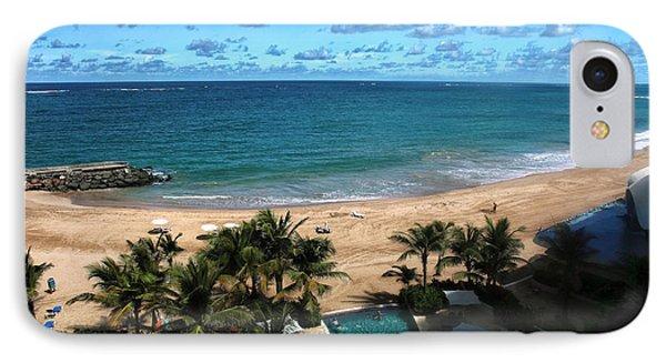 San Juan Beach View Phone Case by John Rizzuto