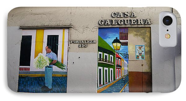 San Juan - Casa Galguera Mural IPhone Case by Richard Reeve
