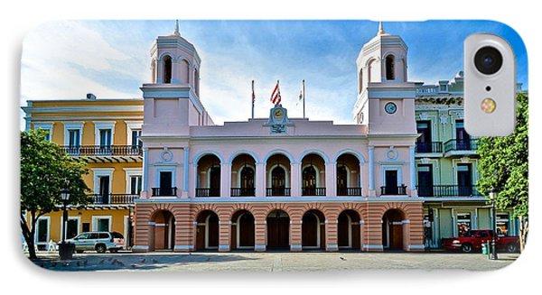 IPhone Case featuring the photograph San Juan City Hall by Ricardo J Ruiz de Porras