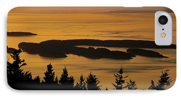 San Juan Islands From Mount IPhone Case by Michel Hersen