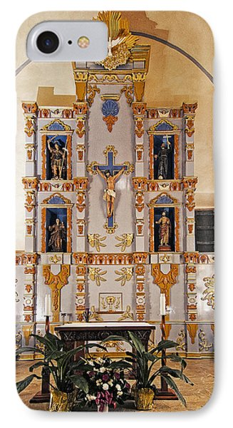 San Juan Mission Altar IPhone Case by Andy Crawford