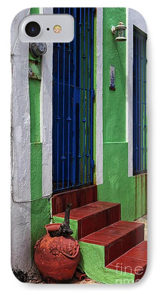 San Juan Red Stairs Phone Case by John Rizzuto