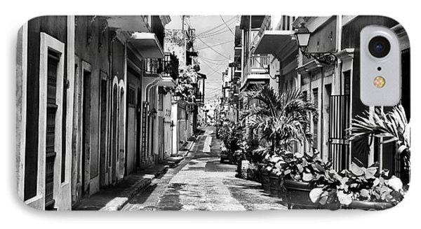 San Juan Street Plants Phone Case by John Rizzuto