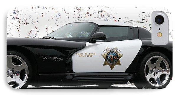 San Luis Obispo County Sheriff Viper Patrol Car IPhone Case