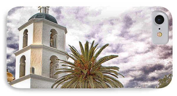 San Luis Rey Mission IPhone Case by James David Phenicie