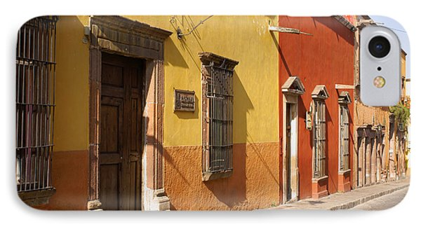 San Miguel Street Mexico IPhone Case by John  Mitchell