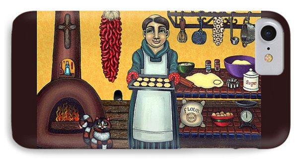 San Pascual Making Biscochitos IPhone Case by Victoria De Almeida