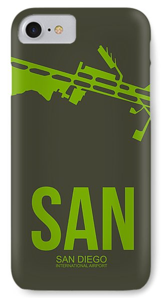 San San Diego Airport Poster 12 IPhone Case by Naxart Studio
