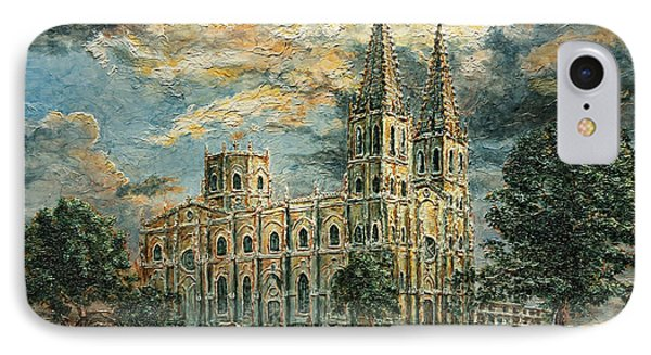 San Sebastian Church 1800s IPhone Case by Joey Agbayani
