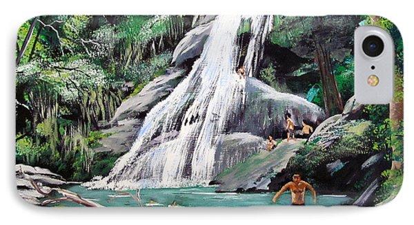 San Sebastian Waterfall IPhone Case by Luis F Rodriguez