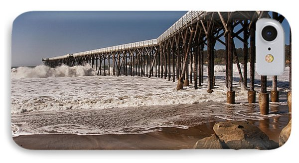 IPhone Case featuring the photograph San Simeon Pier by Lee Kirchhevel