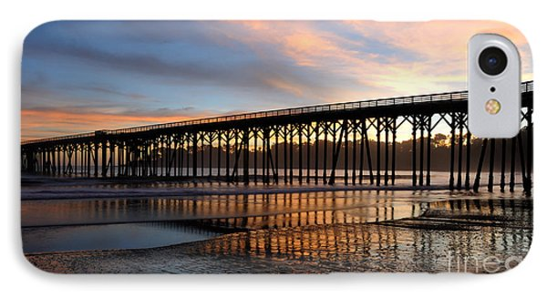 San Simeon Pier IPhone Case by Vivian Christopher