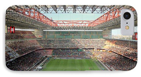 San Siro Stadium IPhone Case by Valentino Visentini