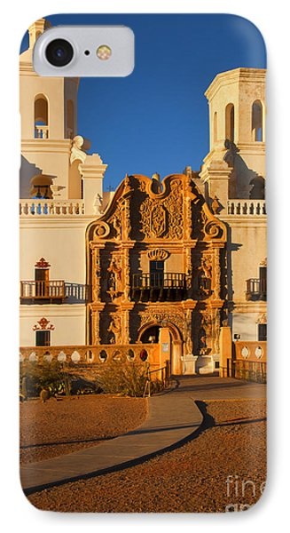 San Xavier Mission IPhone Case by Mike  Dawson
