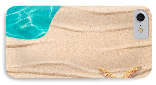 Sand Background Phone Case by Amanda Elwell