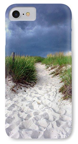 Sand Dune Under Storm Phone Case by Olivier Le Queinec