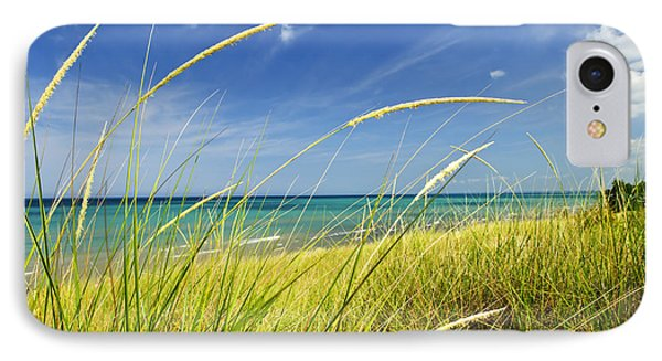 Sand Dunes At Beach IPhone Case by Elena Elisseeva