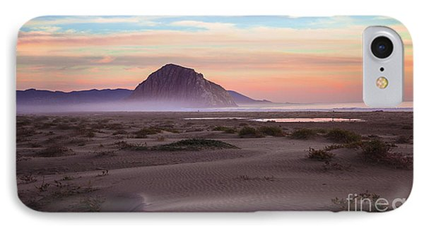 Sand Dunes At Sunset At Morro Bay Beach Shoreline  IPhone Case