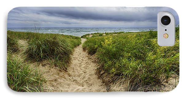Sand Dunes Beach Path IPhone Case by Sebastian Musial