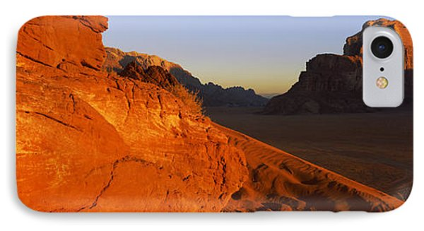 Sand Dunes In A Desert, Jebel Um IPhone Case by Panoramic Images